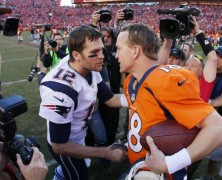 Manning and Brady Struggle With Brilliance