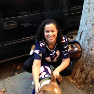 A New England Patriot Fan and Her Dog Brady